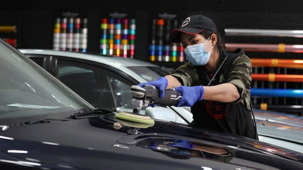 At Tehran garage, Iranian woman polishes cars and her dreams, Swahili Post