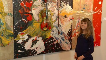 Aelita Andre, 9-Year-Old Abstract Painter Opens Solo Show in Famed Russian Museum - ABC News