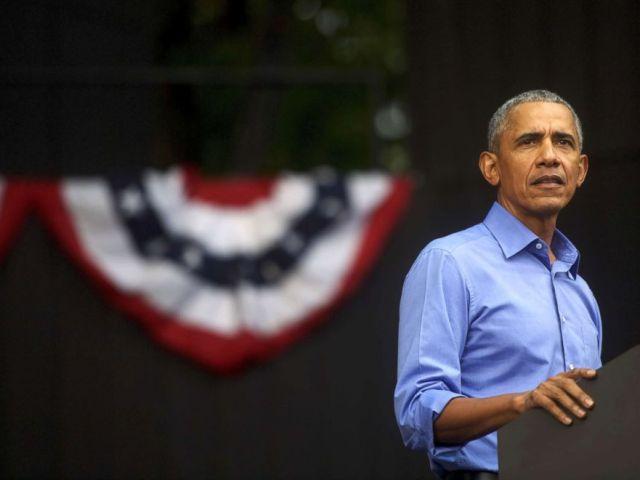 PHOTO: Former President Barack Obama speaks during a campaign rally for Senator Bob Casey and Pennsylvania Governor Tom Wolf, Sept. 21, 2018, in Philadelphia.