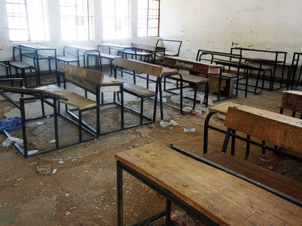 PHOTO: A classroom sits deserted at the Government Girls Technical College at Dapchi town in northern Nigeria after Boko Haram Islamists kidnapped 110 school girls, Feb. 28, 2018.