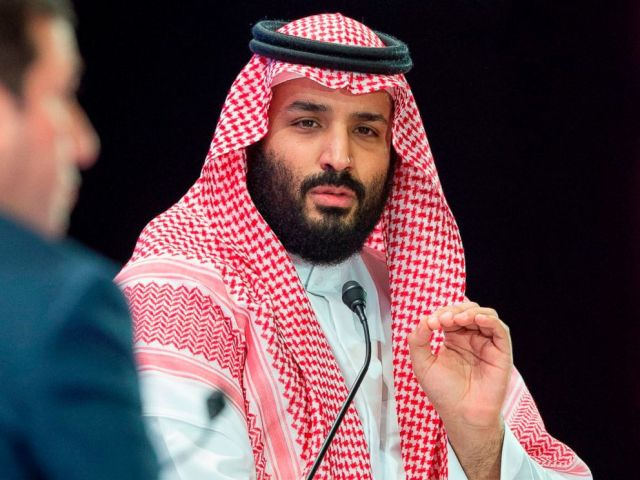 PHOTO: Saudi Crown Prince Mohammed bin Salman speaks during a joint session of the Future Investment Initiative (FII) conference in the capital Riyadh, Oct. 24, 2018.