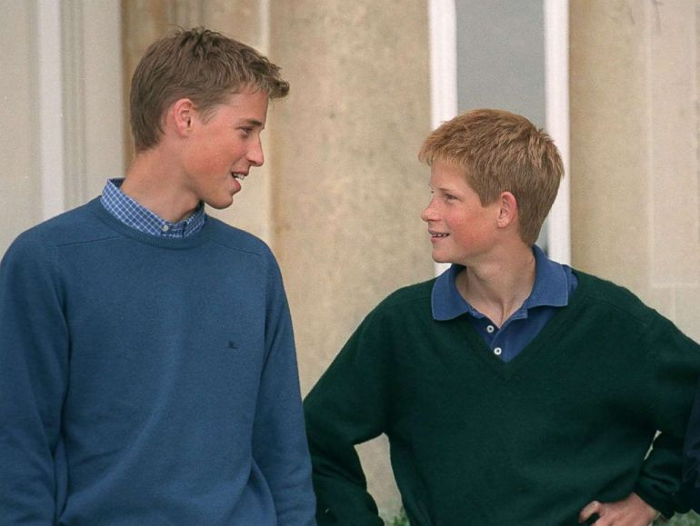 PHOTO: Prince William And Prince Harry At Highgrove, Gloucestershire, July 26, 1999.