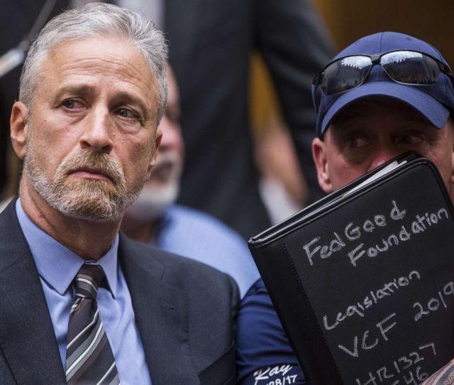 Photoformer Daily Show Host Jon Stewart And Fealgood Foundation Co Founder John Fealis