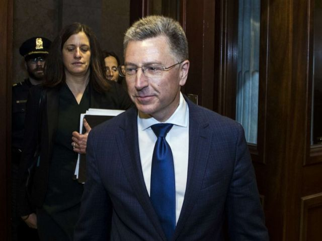 PHOTO: Former Special Envoy to Ukraine Kurt Volker departs following a closed-door deposition led by the House Intelligence Committee on Capitol Hill, Oct. 3, 2019, in Washington, DC.
