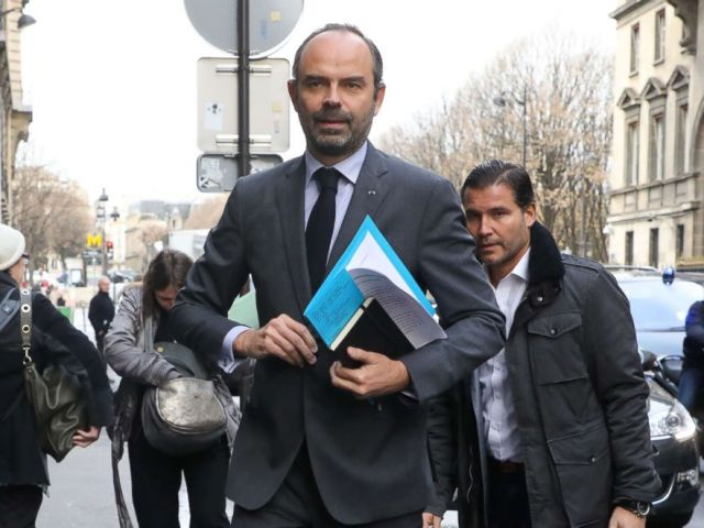 PHOTO: French Prime Minister Edouard Philippe arrives to announce the suspension on rising fuel taxes in Paris, Dec. 4, 2018, a few days after the protests by the yellow vest movement.