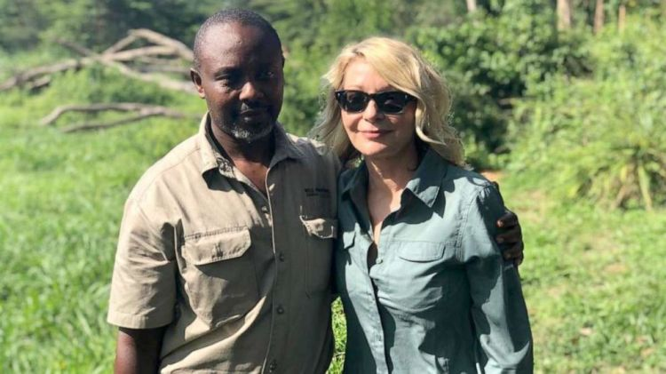 Jean-Paul Mirenge Remezo and Kimberly Sue Endicott at the Queen Elizabeth National Park in Uganda on April 8, 2019.