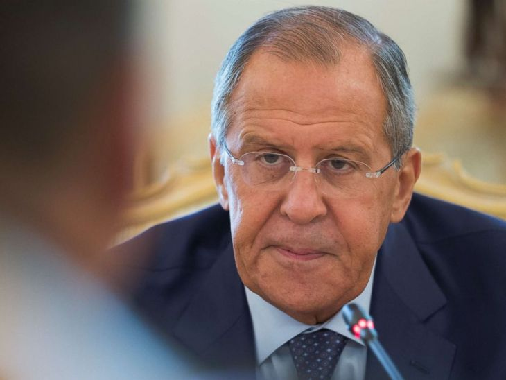 PHOTO: Russian Foreign Minister Sergey Lavrov listens to Bolivian counterpart Fernando Huanacuni Mamani during their meeting in Moscow, Aug. 16, 2017.