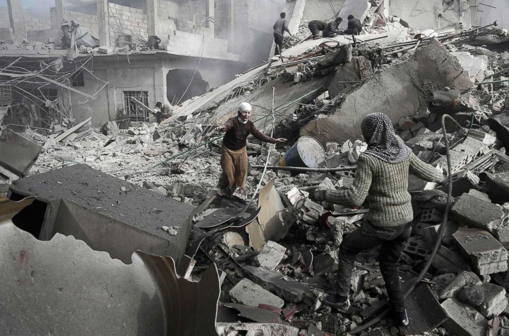 Bombing In Syria Leaves Civilians Including Children