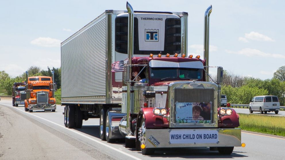 590 Strong Truck Convoy Honors Moms Make A Wish Foundation ABC News