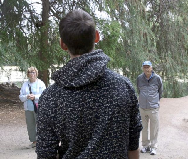 Photo Participants Listen To Ben Page At A Forest Therapy Session At The Los Angeles