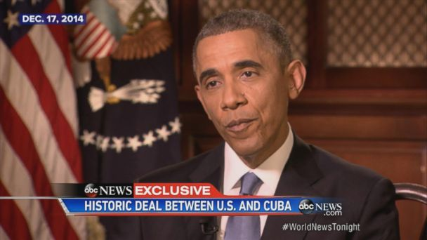 U.S. and Cuba reestablish diplomatic relations.