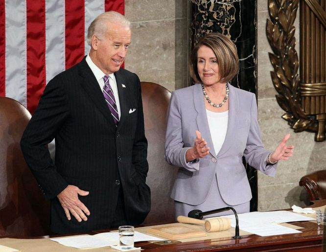 Personification of hope and courage': Nancy Pelosi endorses Joe Biden for president - ABC News