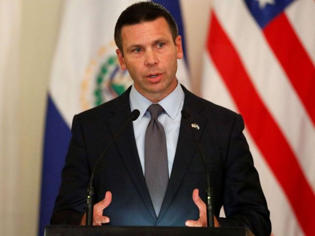 PHOTO: U.S. Department of Homeland Security (DHS) acting Secretary Kevin McAleenan speaks during a news conference in San Salvador, El Salvador August 28, 2019.