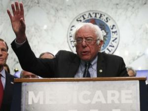 PHOTO: Sen. Bernie Sanders speaks on health during an event on Capitol Hill, Sept. 13, 2017 in Washington.
