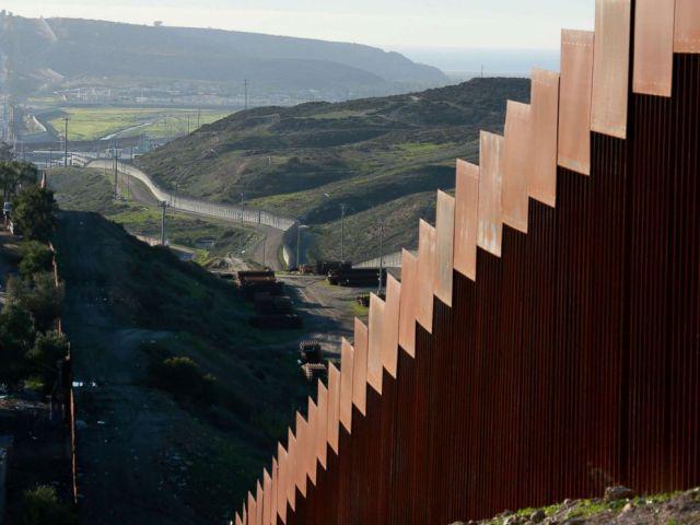 PHOTO: The U.S.-Mexico border wall along the border near Tijuana, Mexico, Jan. 7, 2019.