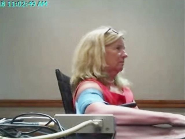 PHOTO: Christine Blasey Ford undergoes a polygraph examination on Aug. 7, 2018, in a photo provided by her legal team.