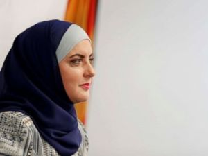 PHOTO: Deedra Abboud announces her candidacy for U.S. Senate, July 31, 2017, at the Democratic headquarters in Phoenix.
