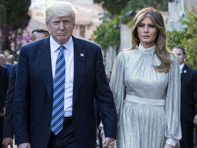 PHOTO: President Donald Trump and first lady Melania Trump arrive at the Greek Theater to attend a concert, on the sideline of the G7 Summit in Taormina, Sicily island, Italy, May 26, 2017.