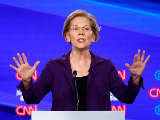 PHOTO: DemoDemocratic presidential hopeful Elizabeth Warren speaks during the fourth Democratic primary debate at Otterbein University in Westerville, Ohio, Oct. 15, 2019.
