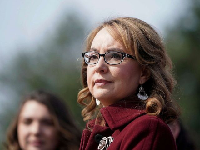 PHOTO: Former Rep. Gabby Giffords attends an event supporting gun background checks legislation bill on Capitol Hill in Washington, D.C., Feb. 26, 2019.