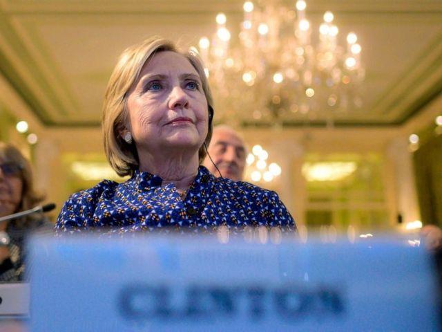 PHOTO: Former Secretary of State Hillary Clinton attends the annual European House Ambrosetti forum on economy, Sept. 6, 2019, at Villa DEste in Cernobbio, Italy.