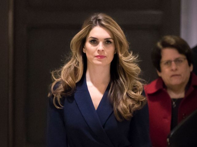 PHOTO: White House Communications Director Hope Hicks, one of President Trumps closest aides and advisers, arrives to meet behind closed doors with the House Intelligence Committee, at the Capitol in Washington, Feb. 27, 2018.