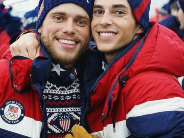 PHOTO: U.S. Winter Olympian Gus Kenworthy (left) posted this photo of himself with fellow openly gay Olympian Adam Rippon in South Korea on Feb. 9, 2018.