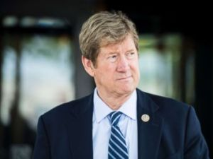 PHOTO: Rep. Jason Lewis leaves the House Republican Conference meeting at the Capitol Hill Club in Washington, June 13, 2018.