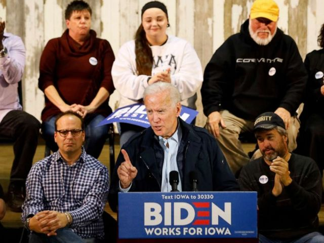 PHOTO: Democratic presidential candidate former Vice President Joe Biden speaks during a town hall meeting, in Fort Dodge, Iowa, Oct. 31, 2019.