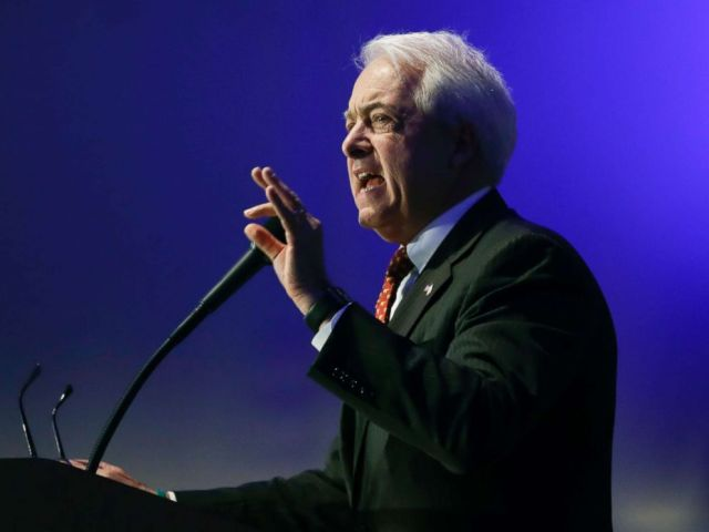 PHOTO: California gubernatorial candidate John Cox speaks during the California Republican Party convention in San Diego, Calif., May 5, 2018.