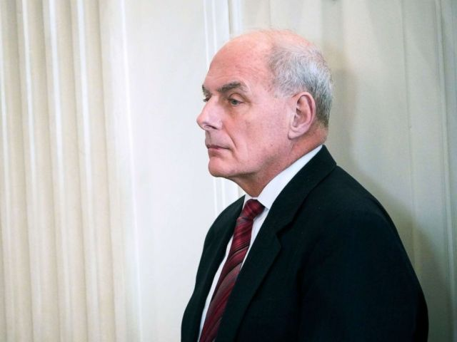 PHOTO: White House Chief of Staff John Kelly is seen before the 2018 White House business session with governors in the State Dining Room of the White House, Feb. 26, 2018, in Washington.