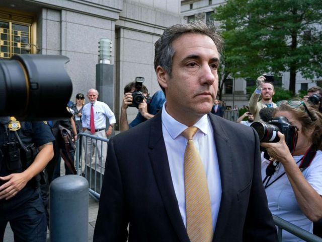 PHOTO: Michael Cohen, former personal lawyer to President Donald Trump, leaves federal court in New York, Aug. 21, 2018.