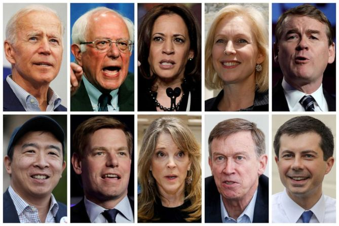Image result for dem candidates for president ON June 27