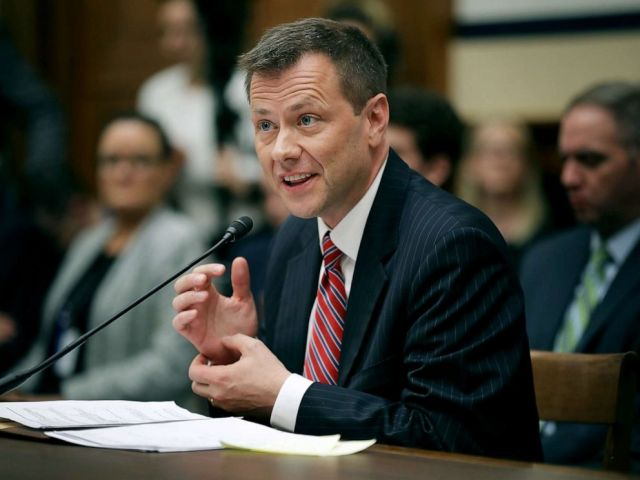 PHOTO: Deputy Assistant FBI Director Peter Strzok testifies before a joint committee hearing of the House Judiciary and Oversight and Government Reform committees in the Rayburn House Office Building on Capitol Hill, July 12, 2018, in Washington, DC.