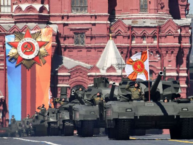 PHOTO: Russian T-14 Armata tanks parade through Red Square during the Victory Day military parade in Moscow, May 9, 2018.