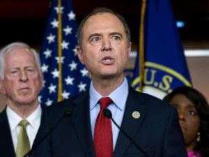 PHOTO: Rep. Adam Schiff, D-Calif., ranking member of the House Intelligence Committee speaks during a news conference about President Donald Trumps meeting with Russian President Vladimir Putin at Capitol Hill, July 17, 2018.