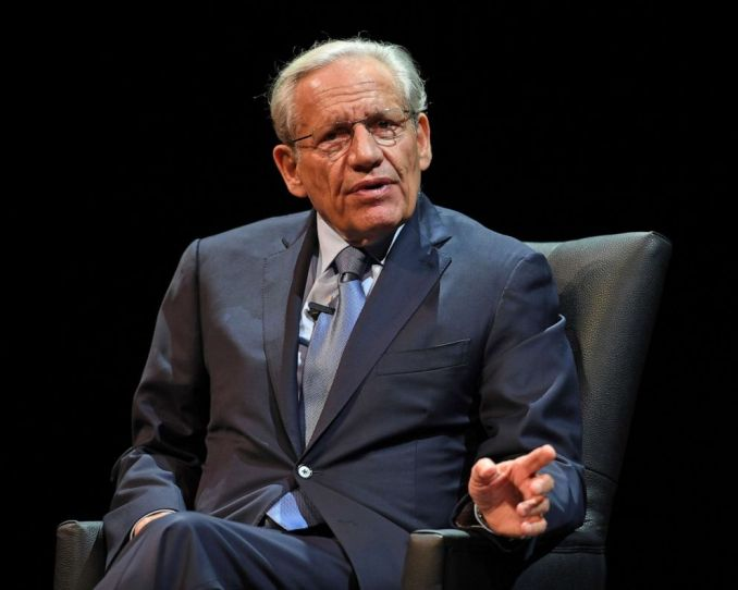PHOTO: Bob Woodward speaks during an evening with Bob Woodward discussing his new book FEAR Trump in the White House in Coral Springs, Fla., Oct. 15, 2018
