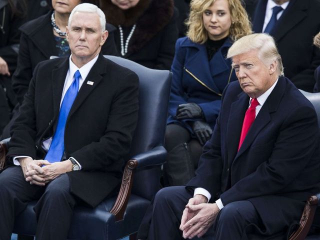 PHOTO: President-elect Donald Trump and Vice President-elect Mike Pence during the 58th U.S. Presidential Inauguration in Washington, D.C.on January 20, 2017.