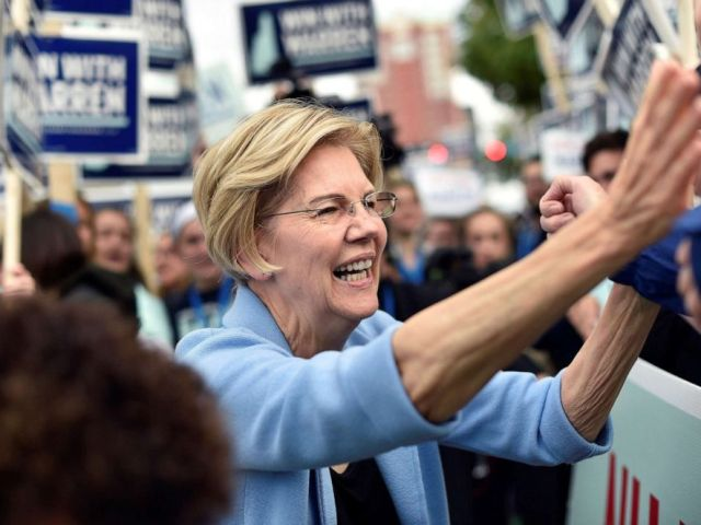 PHOTO: Democratic presidential candidate and Senator Elizabeth Warren greets supporters at the New Hampshire Democratic Party state convention in Manchester, N.H., Sept. 7, 2019.
