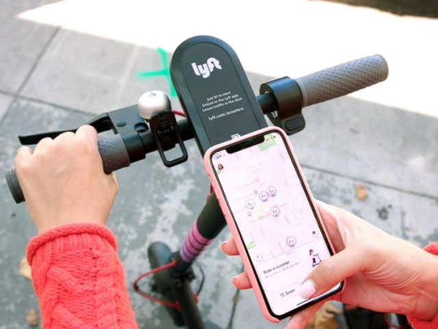 PHOTO: Lyft gets into the scooter arms race by launching its own scooter business today starting in Denver.