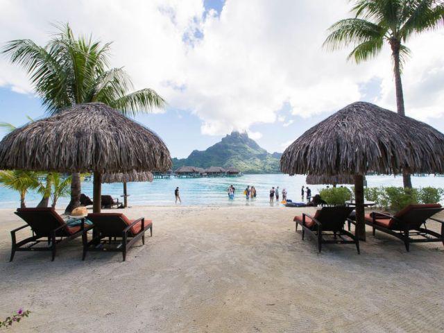 PHOTO: The beach at InterContinental Bora Bora resort and Thalasso Spa.