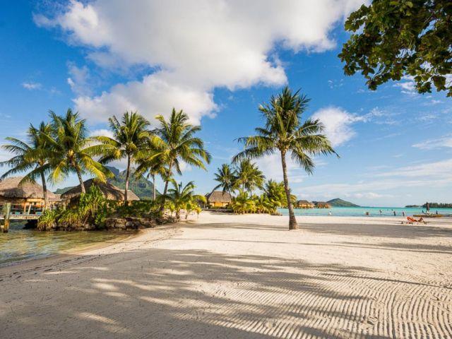 PHOTO: The beach at Bora Bora Pearl Ranch Resort and Spa.