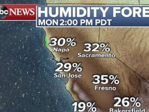 HD Decor Images » Southern Calif  at critical risk for wildfires amid extreme heat     PHOTO  A weather map of Southern California  where temperatures are forecast  to hit dangerous