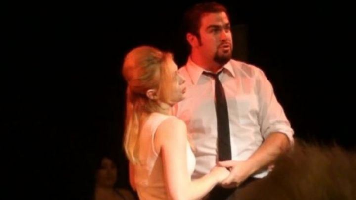 "PHOTO: Daniel Wozniak and Rachel Buffett performed in the musical ""Nine"" at the Liberty Theater on the night Sam Herr was killed."