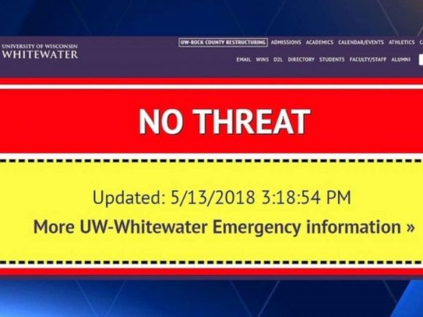 The University of Wisconsin gave students a scare on Sunday after it mistakenly activated the campus emergency alarm system.