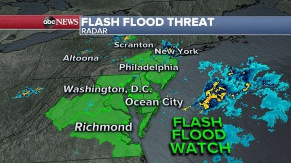 Strong storms, flash flood threat head toward areas still ...