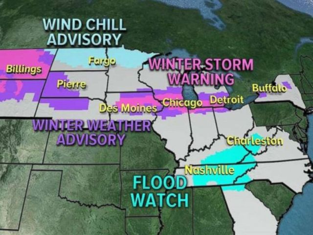 There are 20 states with alerts in place due to storms moving through the Northern Plains and Midwest over the weekend.