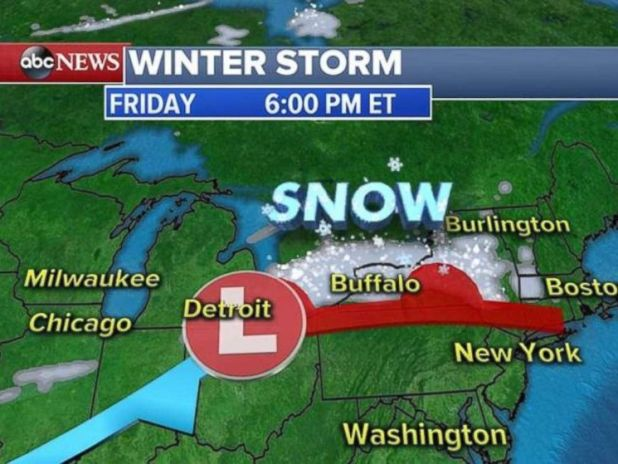 A winter storm will bring more snow to western New York on Friday evening.