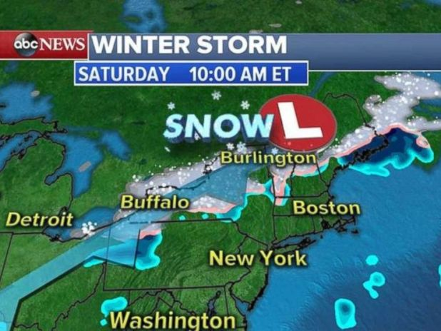 Storms will move into the Great Lakes on Saturday morning to deliver more rain and snow.