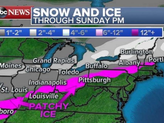PHOTO: Snow and ice is expected in parts of the Midwest and Northeast.